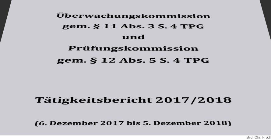 Tätigkeitsbericht 2017/2018 Überwachungskommission und Prüfungskommission TPG