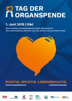 Plakat zum Tag der Organspende 2019