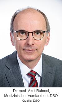 Dr. Axel Rahmel, medizinischer Vorstand der DSO