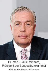 Dr. med. Klaus Reinhard, Präsident der Bundesärztekammer